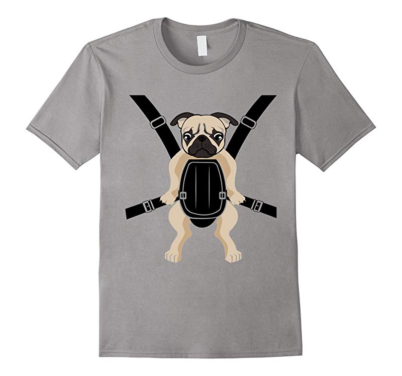 Funny Cute Baby PUG Carrier Strap On T-Shirt-RT
