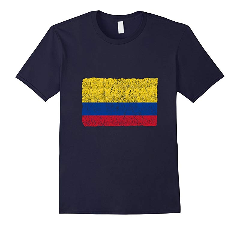 Vintage Colombia Flag T-Shirt Colombian Pride Tee Shirt-RT