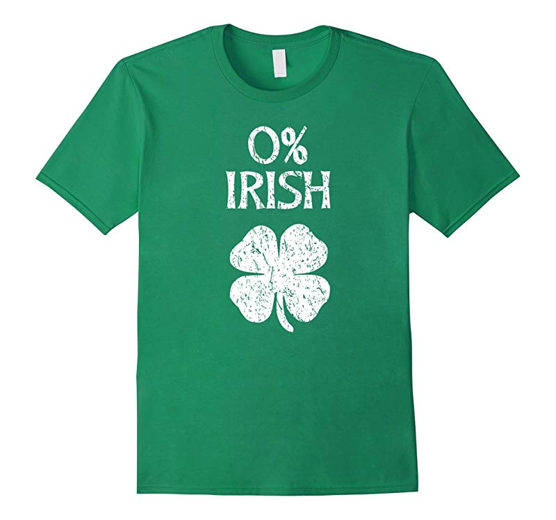 0% Irish Vintage St. Patrick Day T Shirt-RT