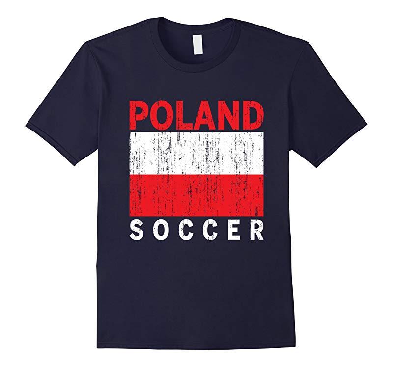 Poland Soccer Polish Flag Polska Football T-Shirt-RT