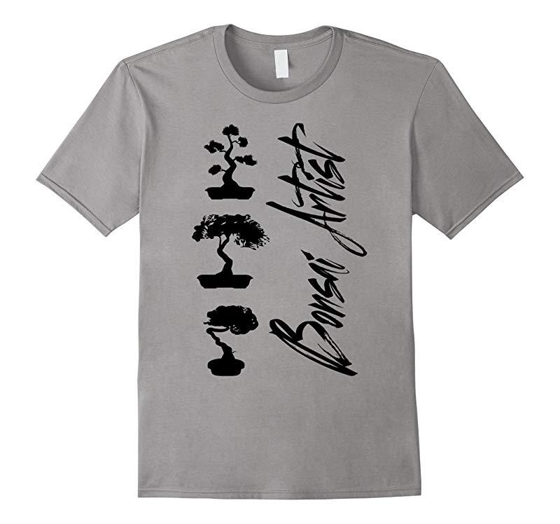 Bonsai Artist T-Shirt with Bonsai Trees-RT