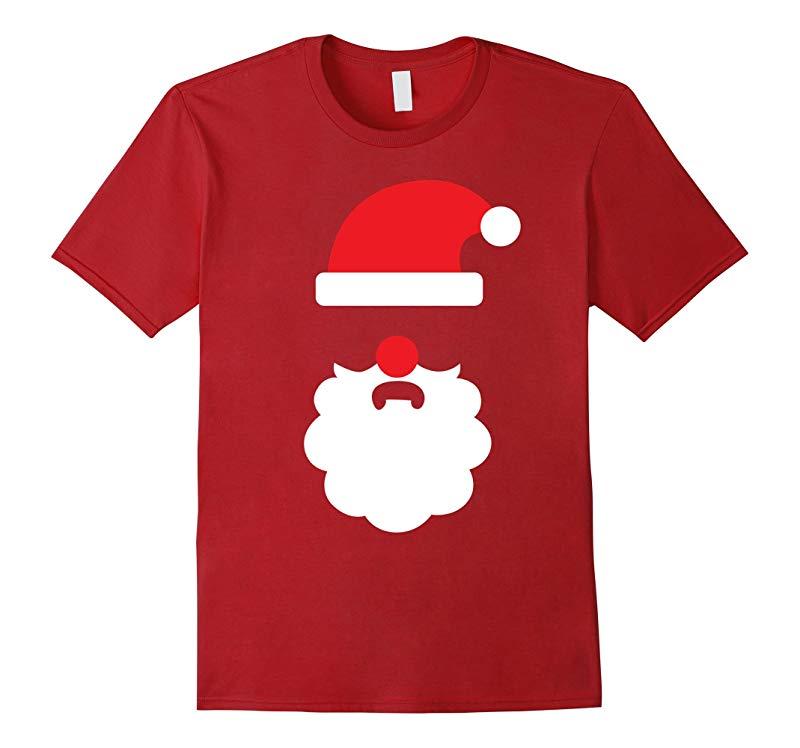 Ugly Christmas Sweater Santa Beard Tee - Mens Womens  Kids-RT