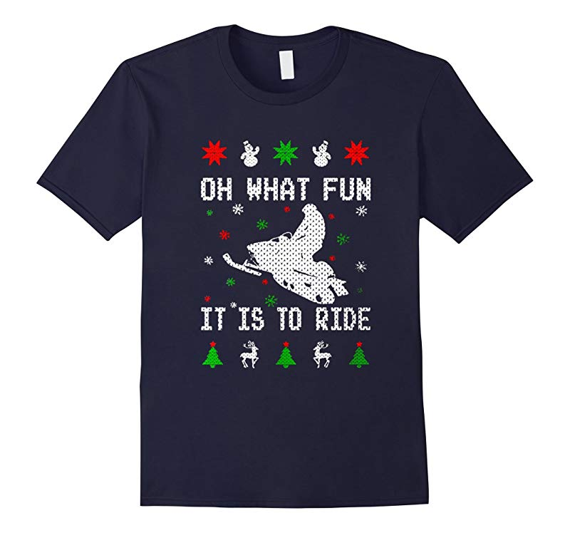 Snowmobile Shirt - Oh What Fun It Is To Ride Shirt-RT