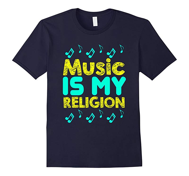 FUNNY MUSIC IS MY RELIGION T-SHIRT Meme Saying Gift-RT