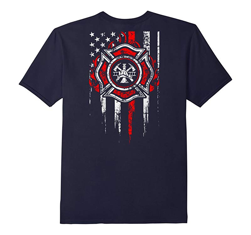 We Remember Flag Of Courage Firefighter T Shirt-RT