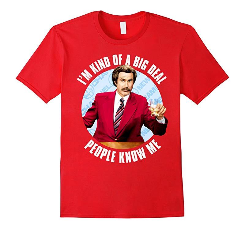 Anchorman Ron Burgundy I'm Kind of a Big Deal T-Shirt-FL