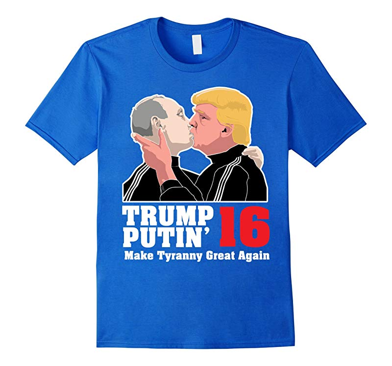 Donald Trump Vladimir Putin US Russia Kiss President Shirt-RT