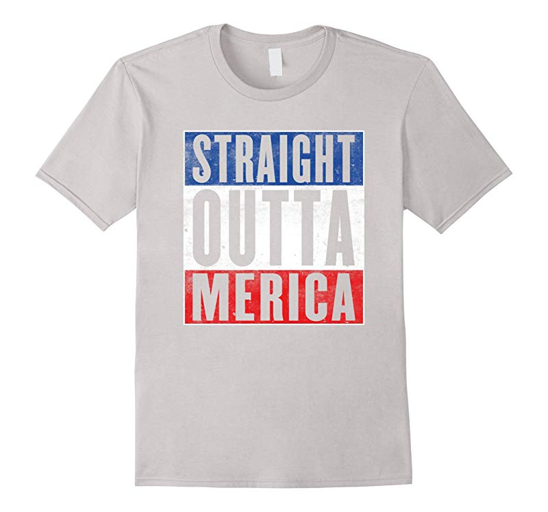 Mens Straight Outta Merica - 4th Of July T-Shirt 2016-RT