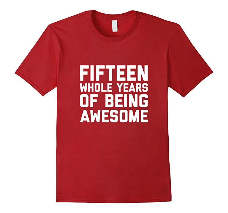 15th Birthday Shirt Gift Age 15 Year Old Boy Girl Tshirt Tee-RT