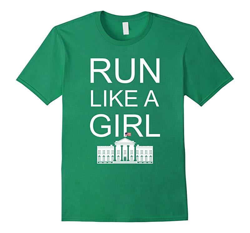 Run Like a Girl Hillary Clinton T-shirt-TD