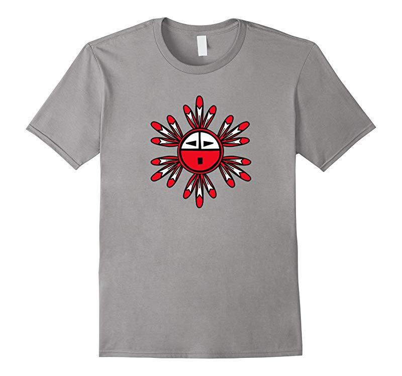 Hopi Kachina Sun Symbol premium design t-shirt-RT