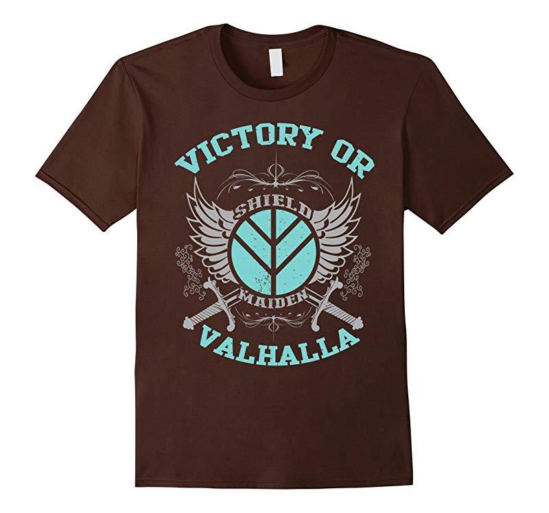 Lagertha Shieldmaiden Shirt - Victory Or Valhalla T-Shirt-RT
