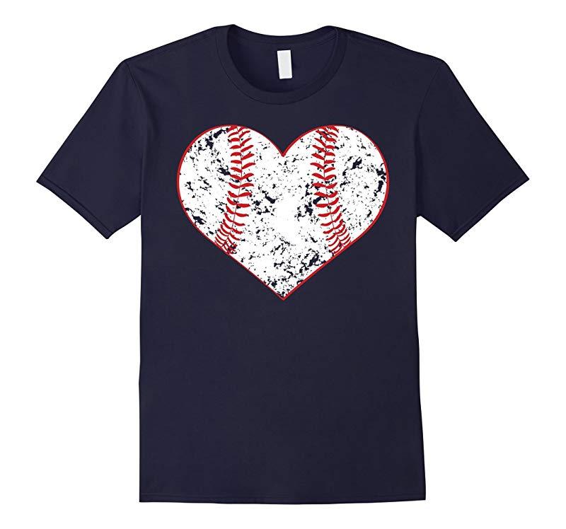Baseball Heart Shirt Softball Mom Sports Gift-RT