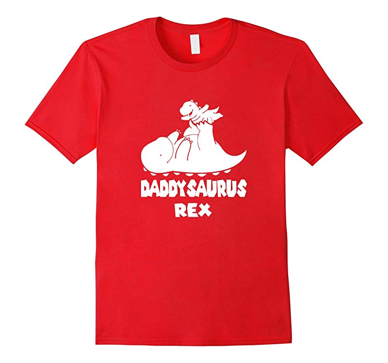 Daddysaurus Rex Father and Son or Daughter T-Shirt-RT