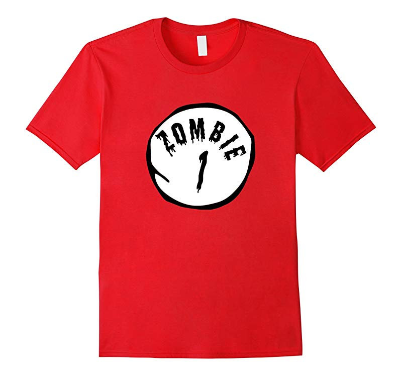 Zombie One Zombie Two T-Shirt Funny Party Halloween Shirt-BN