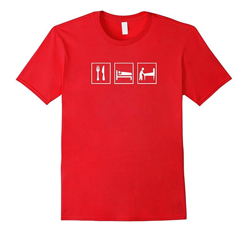 Eat Sleep Pinball t-shirt -- primary color shirts-RT
