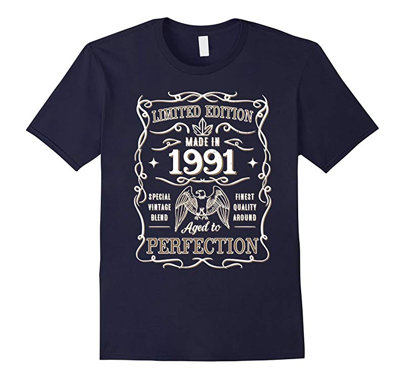 Vintage Made In 1991 Birthday Gift Idea T Shirt-TH