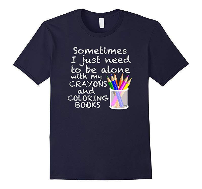 Coloring Books For Adults T-Shirt Adult Crayons Coloring Tee-RT