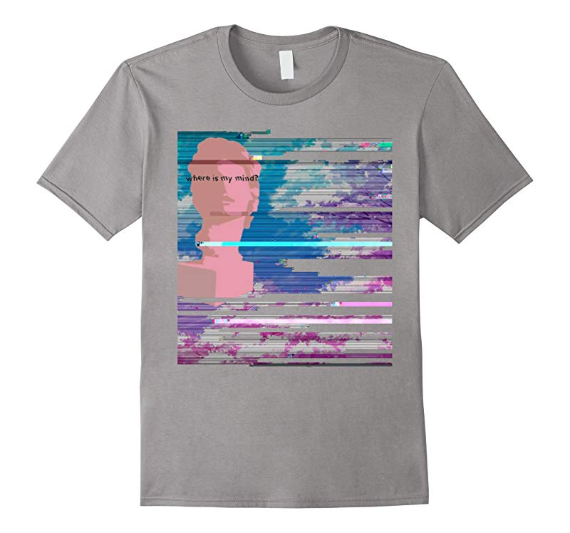Where Is my Mind Vaporwave Aesthetic T-Shirt-RT