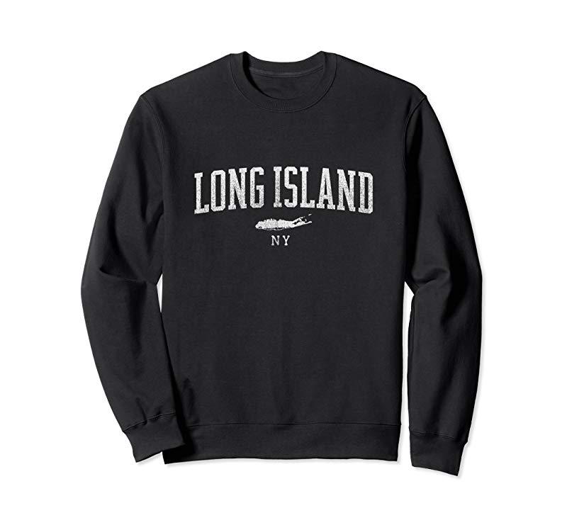 Long Island NY sweatshirt - Vintage Sports look, Men & Women-alottee gift