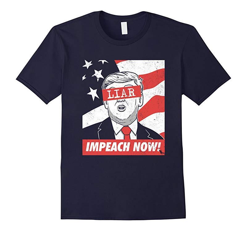 Impeach Now! Liar anti-trump Graphic Tee-Art
