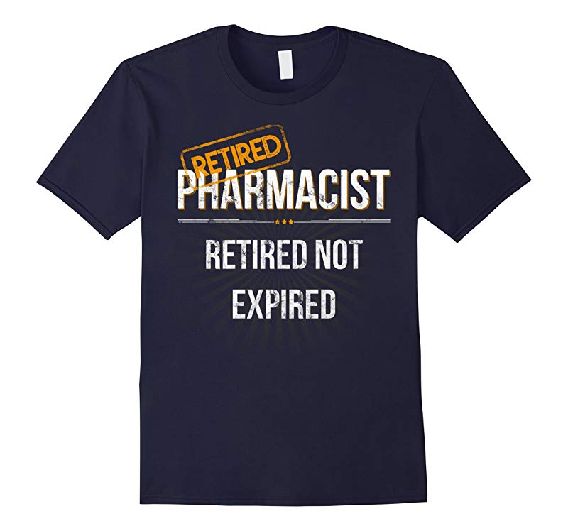 Mens Retired Pharmacist Retirement Gift T Shirt for Pharmacists-TH