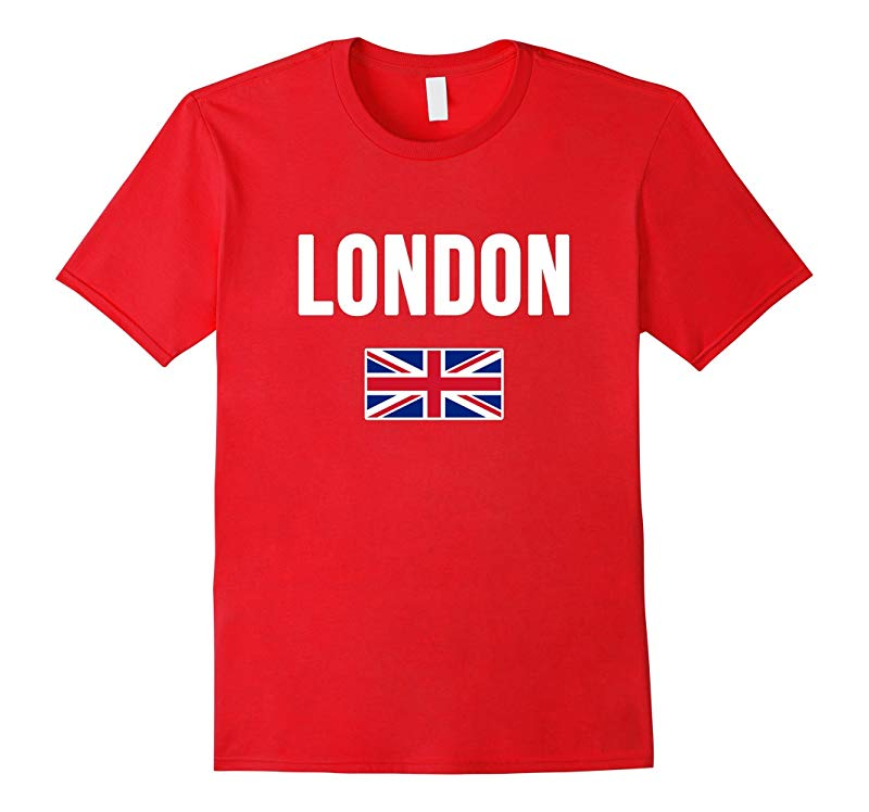 London England T-shirt English Souvenir Uk Flag British Tee-RT