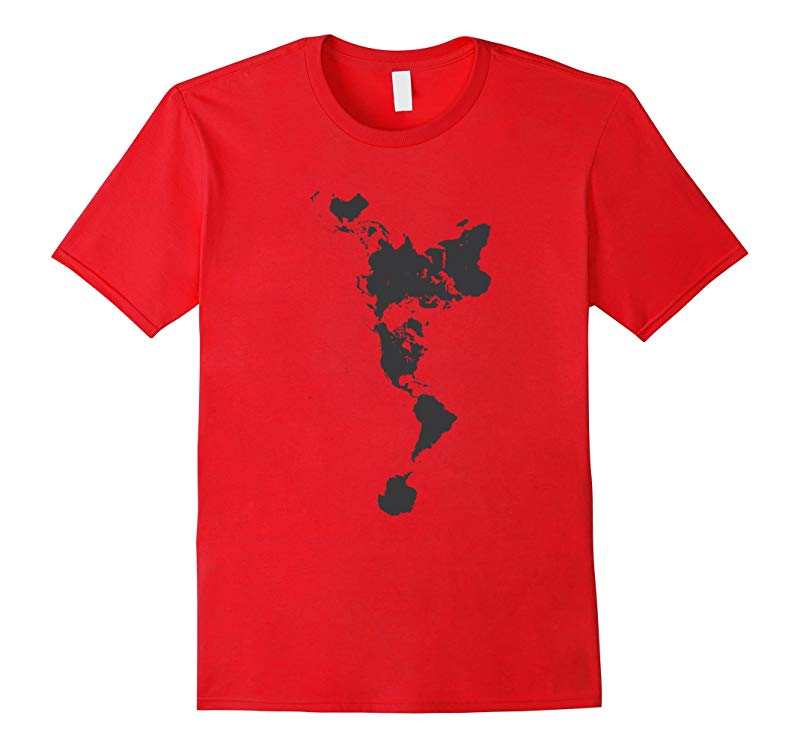 Charcoal Dymaxion Map T-Shirt-CD