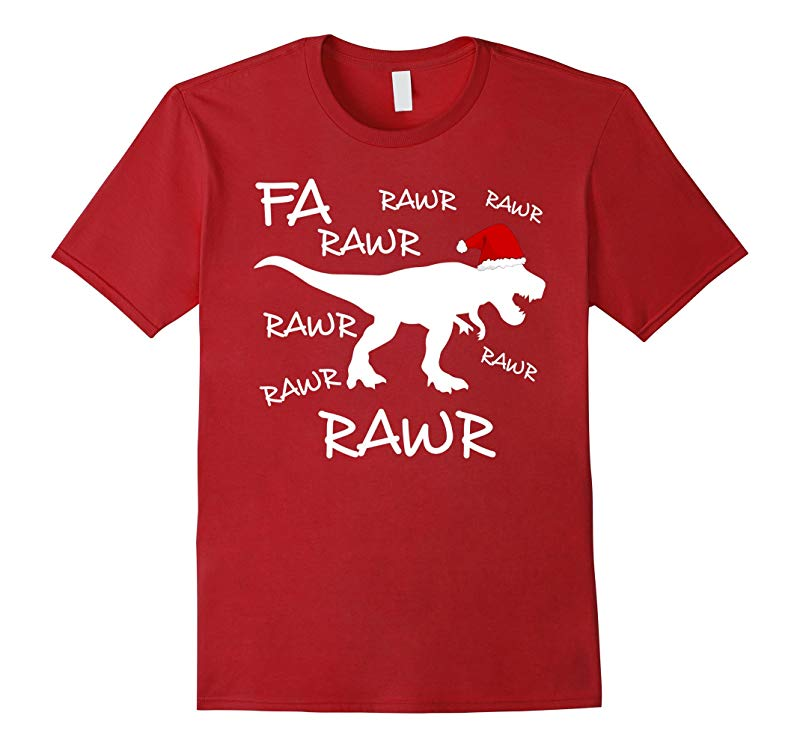 Fa Rawr Rawr Funny T-Rex Dinosaur Christmas Ugly T-Shirt-RT
