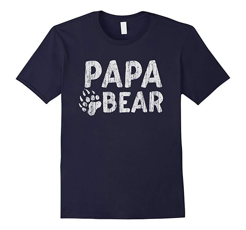 Papa Bear Family T Shirt - Daddy Fathers Parents Fun Gift-RT