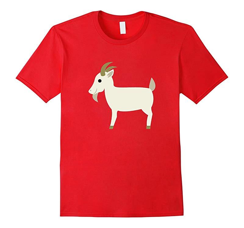 Goat Emoji T-Shirt Farm Animal Horns Tusks Pig Sheep Cow-RT