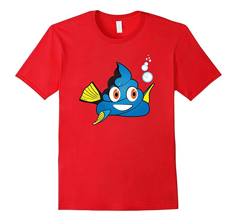 Blue Tang Poop Emoji Pile of Poo Shirt for Women Men Kids-RT