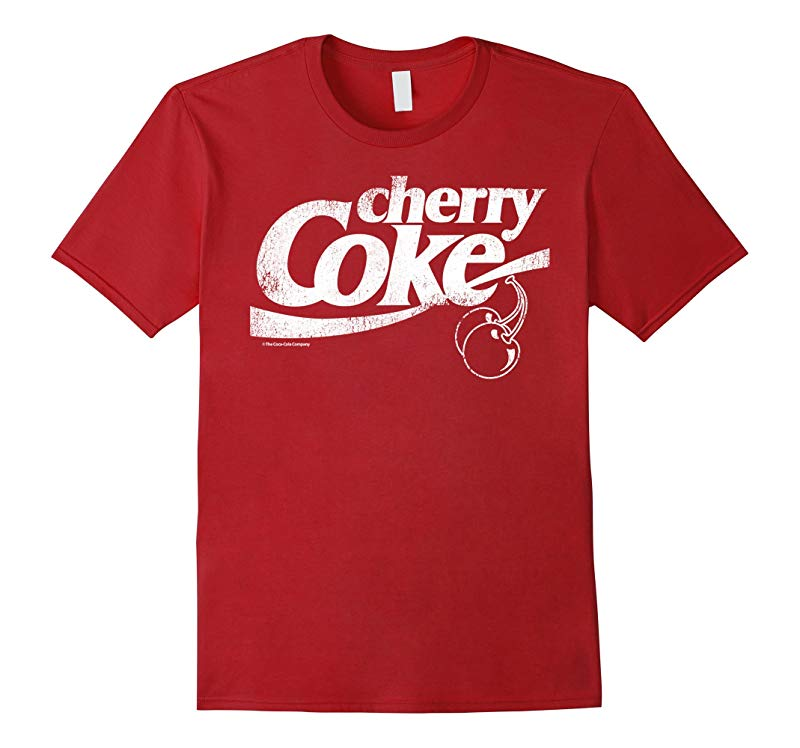 Coca-Cola Vintage Retro Cherry Coke Logo Graphic T-Shirt-FL