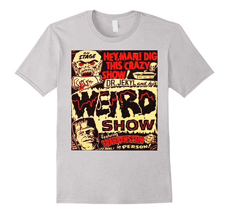 Halloween Frankenstein Dr Jekyll Vintage Poster T- Shirt-RT