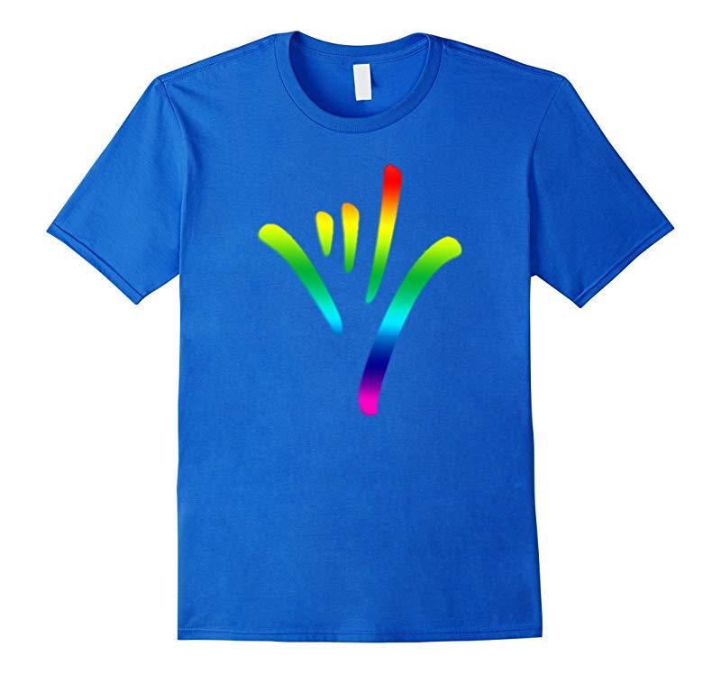Rainbow I Love You Sign Language deaf culture T shirt Pride-TD
