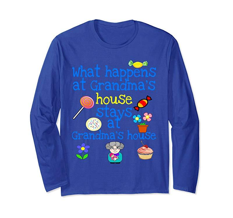 Funny Long-Sleeved T-Shirt Novelty Apparel for Grandma-alottee gift