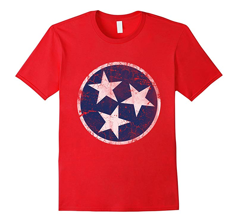 Vintage Grunge Flag of Tennessee T-Shirt-RT