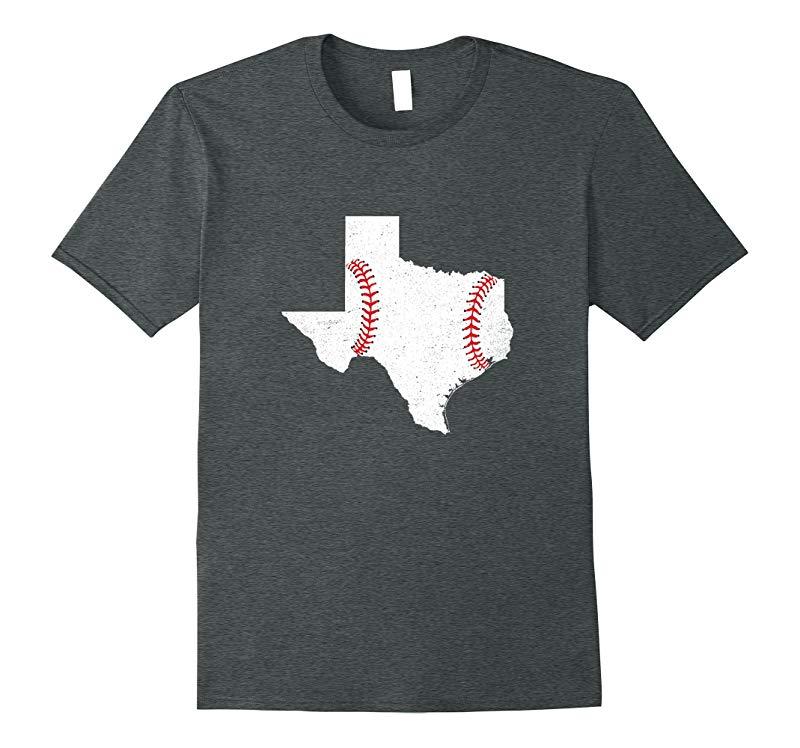 Texas Baseball State Flag Map Vintage Funny Tshirt-RT