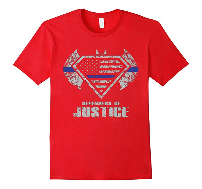 Thin Blue Line shirt Police shirt I AM DEFENDER OF JUSTICE-RT