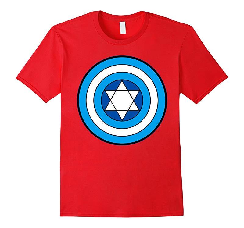 Hero Holidays - Captain Hanukkah Jewish Star Logo T-Shirt-RT