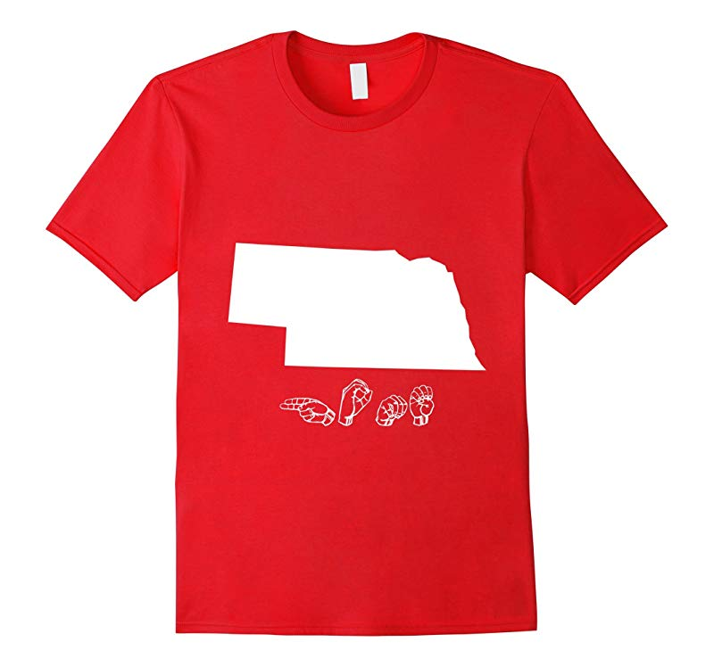 ASL - American Sign Language Nebraska Home T shirt-RT