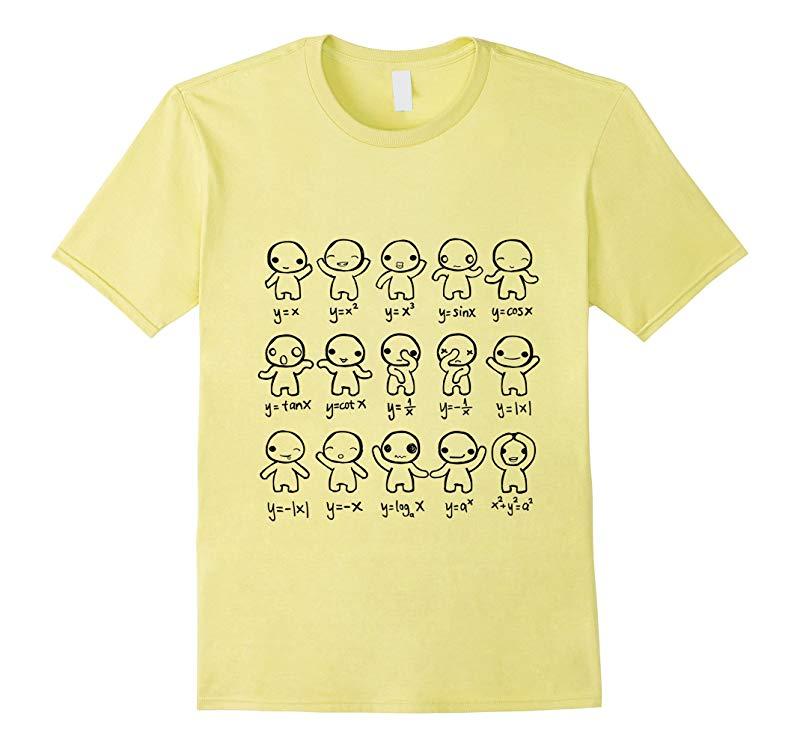 Algebra Math Graph Plot Dance Cute Funny Figures T-shirt-PL