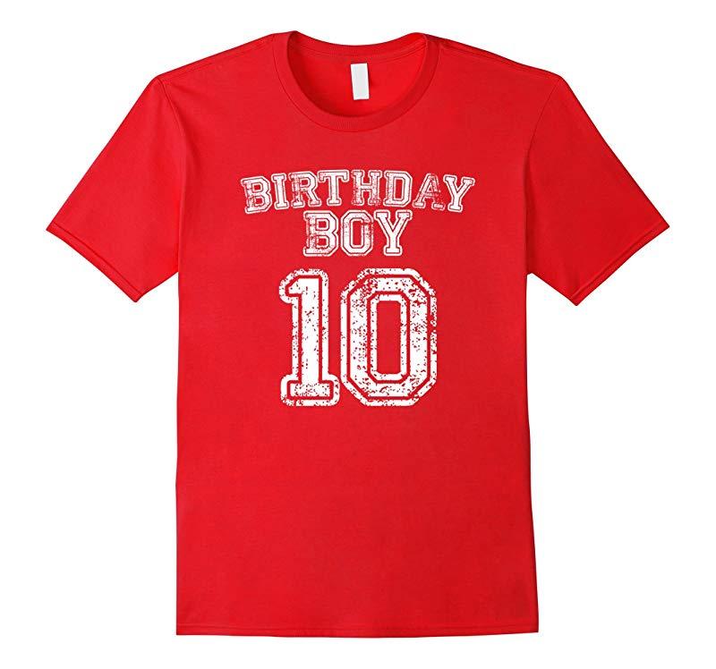 10th Birthday Sports Jersey T Shirt - 10 Year Old Boy Tee-RT