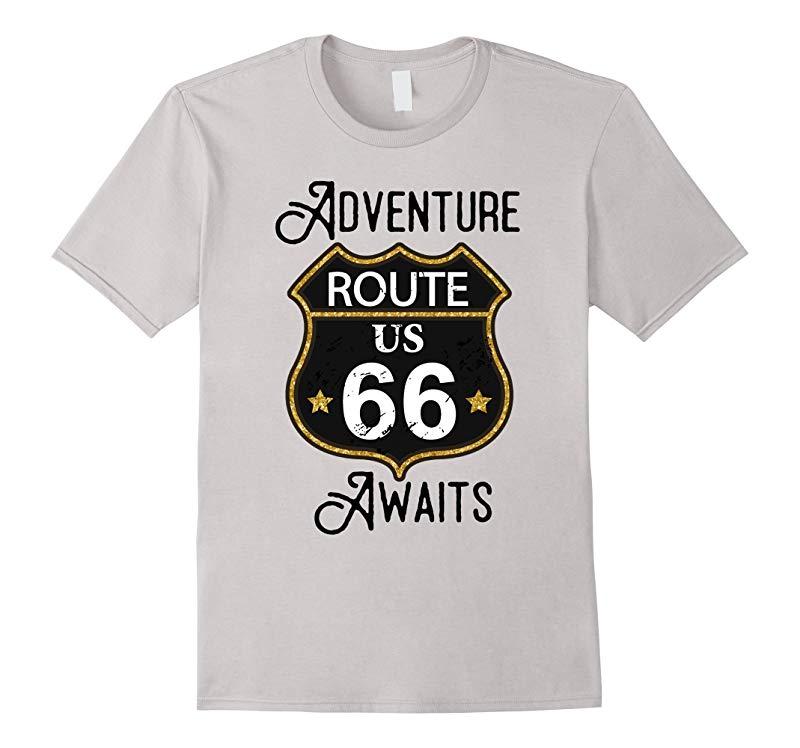 Adventure Awaits Route 66 T-Shirt-RT