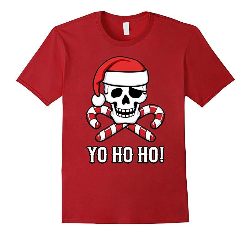 Santa Pirate Funny Christmas T-Shirt-RT