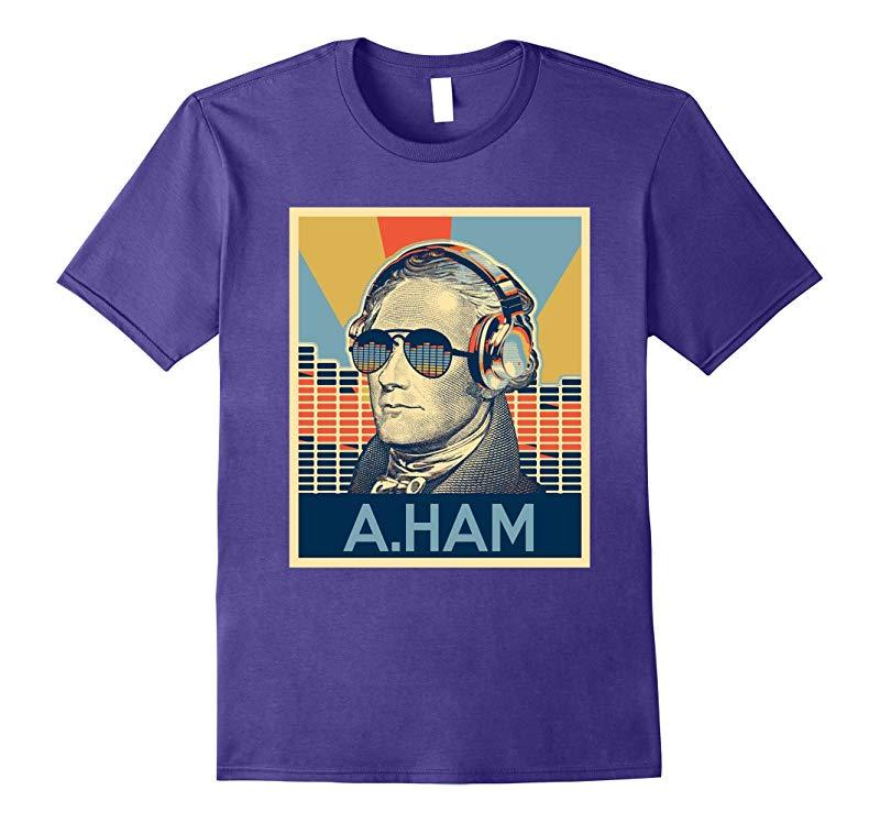 Hamilton shirt equalizer glasses and headphone-FL