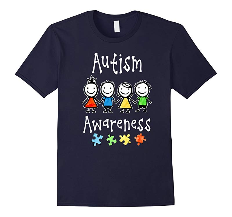 Autism Awareness Love Kids T-shirt Support I Wear Puzzle-RT