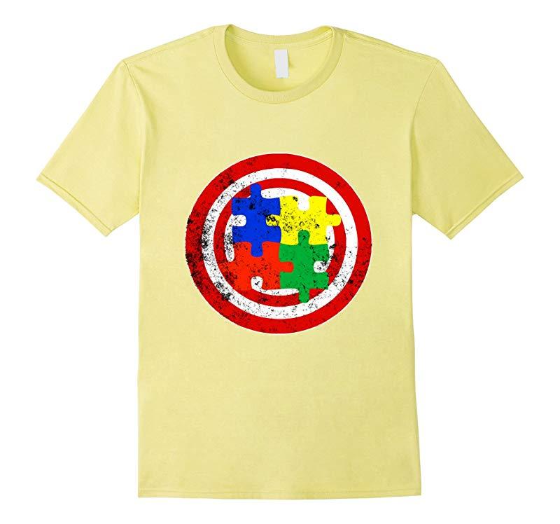Autism Awareness TShirt Captain Autism Puzzle Piece Shirt-RT