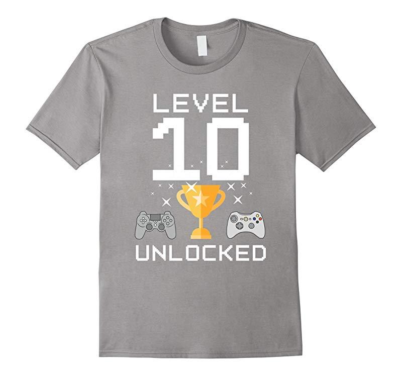10th Birthday Level 10 Unlocked Funny Gamer T-shirt Gaming-RT