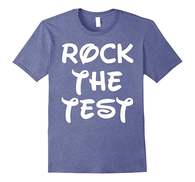 Rock The Test T-Shirt Funny School Professor Teacher Joke-Vaci
